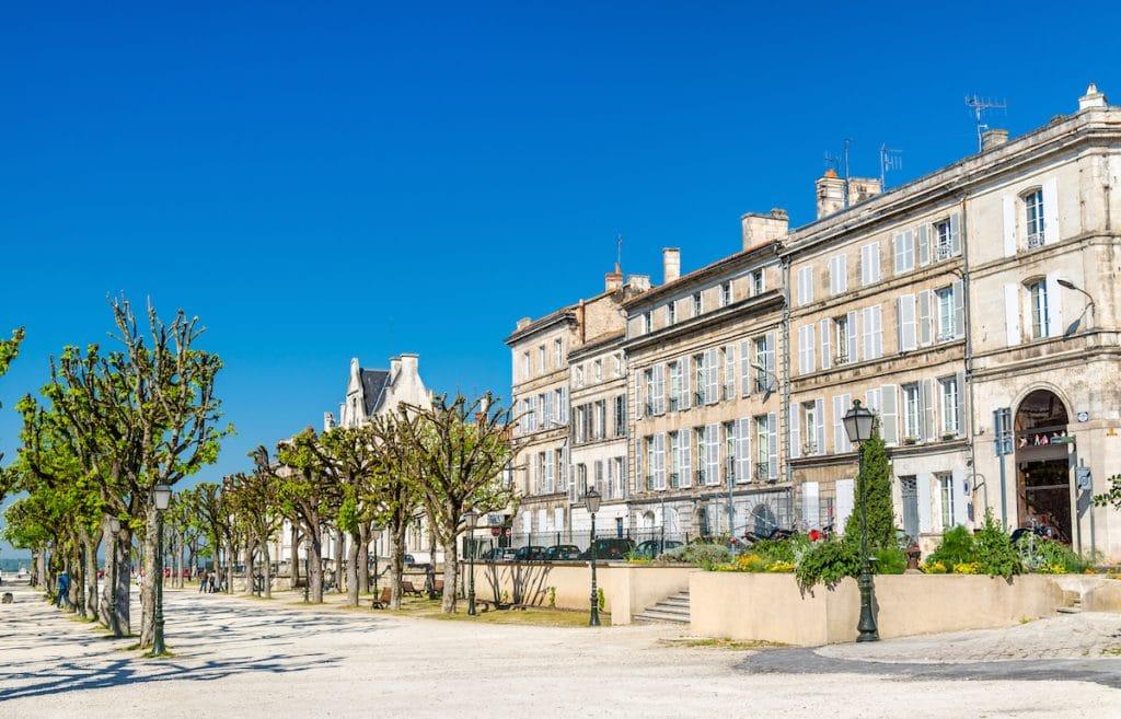 Bâtiments historiques dans la ville d'Angoulême, département de la Charente (France)