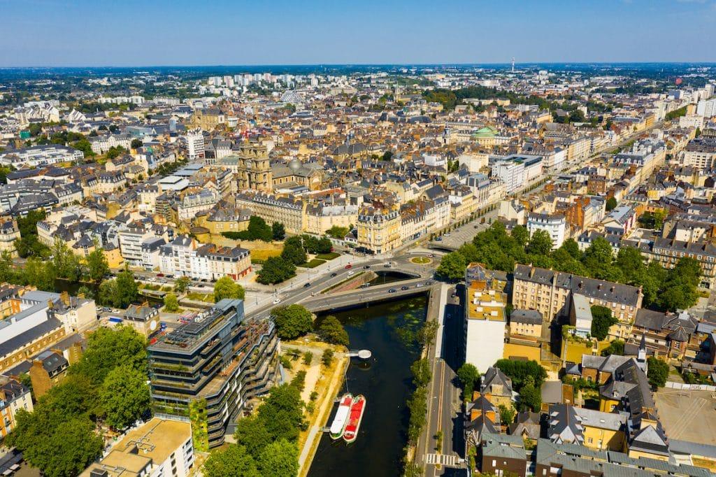 Vue arienne de Rennes