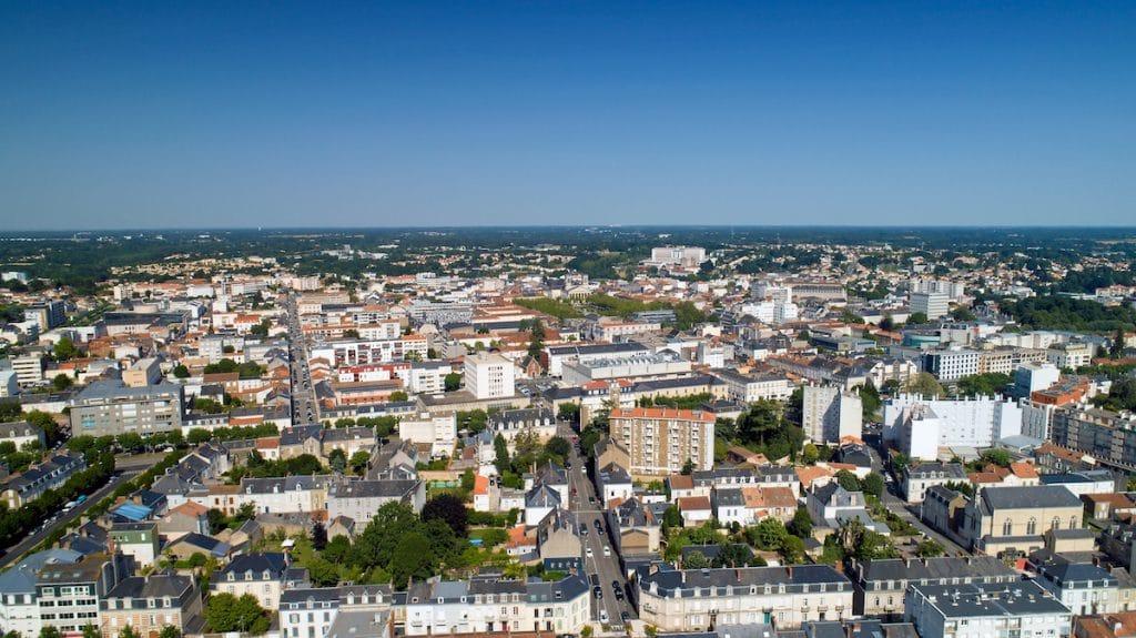 Vue aérienne de la Roche-sur-Yon
